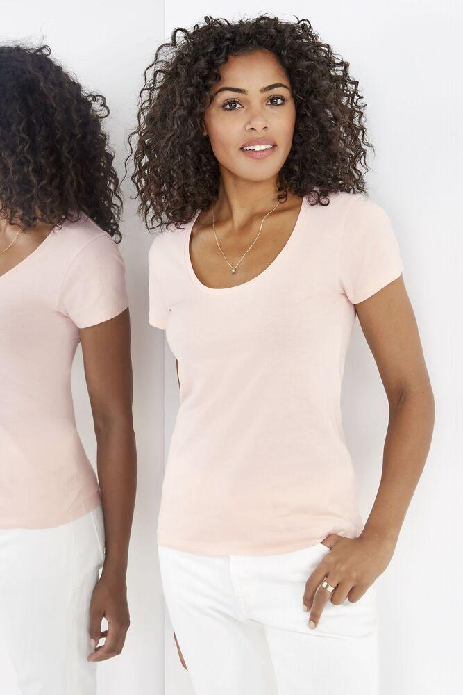 Sol's 02079 - Dames Laag Uitgesneden T Shirt Ronde Hals Metropolitan