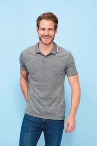 Sols 02081 - Mens Heather Polo Shirt Paname