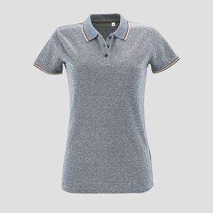 Sols 02082 - Paname Womens Heather Polo Shirt Paname