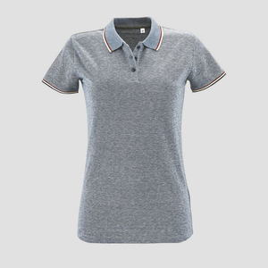 Sols 02082 - Damen Heather Poloshirt Kurzarm Paname
