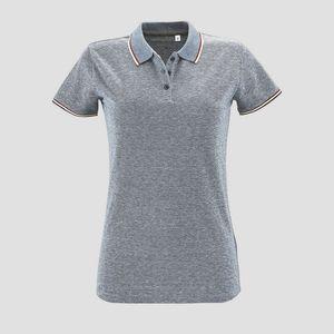 Sols 02082 - Womens Heather Polo Shirt Paname