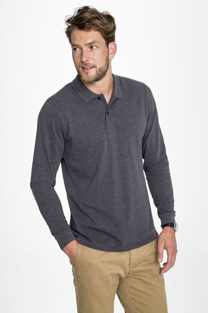 Sol's 02087 - Polo Piqué Manches Longues Homme Perfect