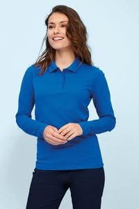 Sols 02083 - Womens Long Sleeve Piqué Polo Shirt Perfect Lsl