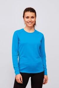 Sols 02072 - Womens Long Sleeve Sports T Shirt Sporty Lsl