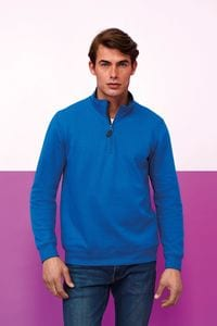 Sols 02088 - Mens Zip High Collar Sweatshirt Stan