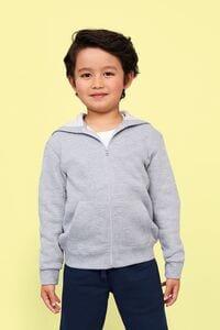 Sols 02092 - Sweatshirt com Fecho e Capuz Stone Kids