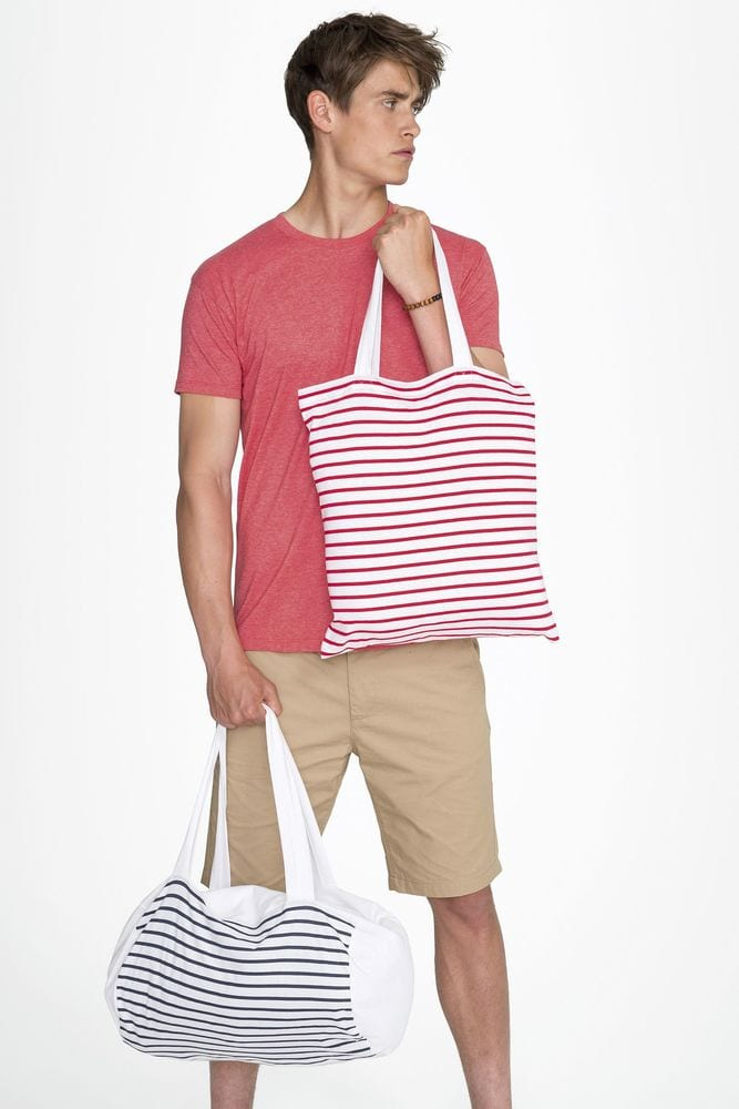 Sol's 02122 - Striped Jersey Duffel Bag Sunset