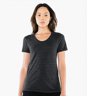 American Apparel tr301w - Imported Women's Tri-Blend Crew Tee