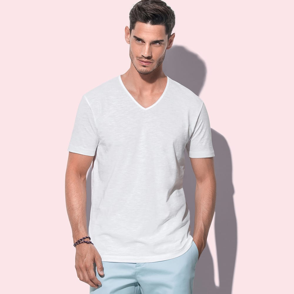 Stedman ST9410 - T-Shirt Shawn  Slub V Neck