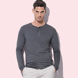 Stedman ST9460 - Shawn Long Sleeve Henley T-shirt