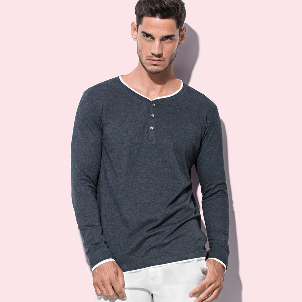 Stedman ST9860 - Luke Long Sleeve Henley T-shirt