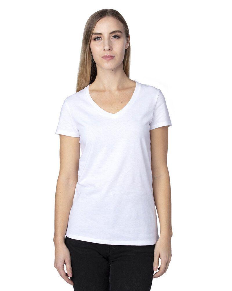 Threadfast 200RV - T-Shirt à col V à manches courtes pour femme Ultimate