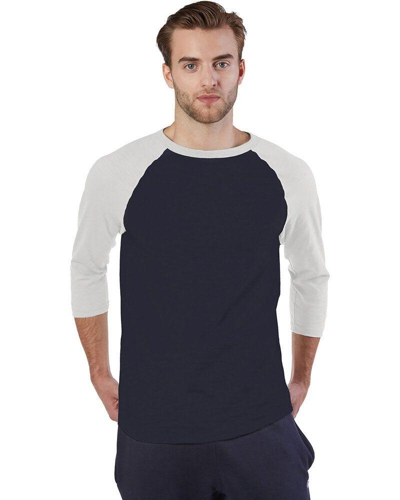 Champion CP75 - T-shirt de baseball Ring Spun Slub pour adulte