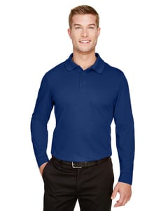 Devon & Jones DG20L - Mens CrownLux Performance™ Plaited Long-Sleeve Polo
