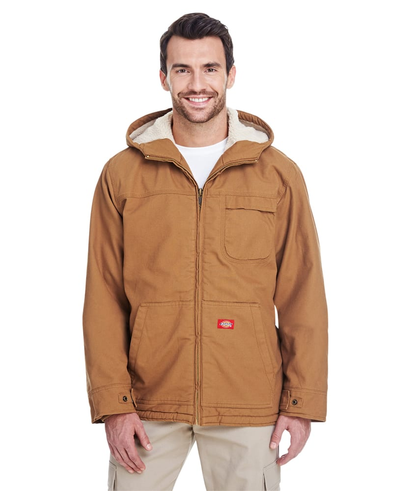 Dickies TJ350 - Men's 8.5 oz./yd² Sanded Duck Sherpa-Lined Hooded Jacket