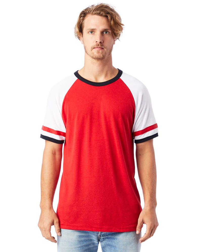 Alternative Apparel 5093BP - T-Shirt homme en jersey vintage Slapshot