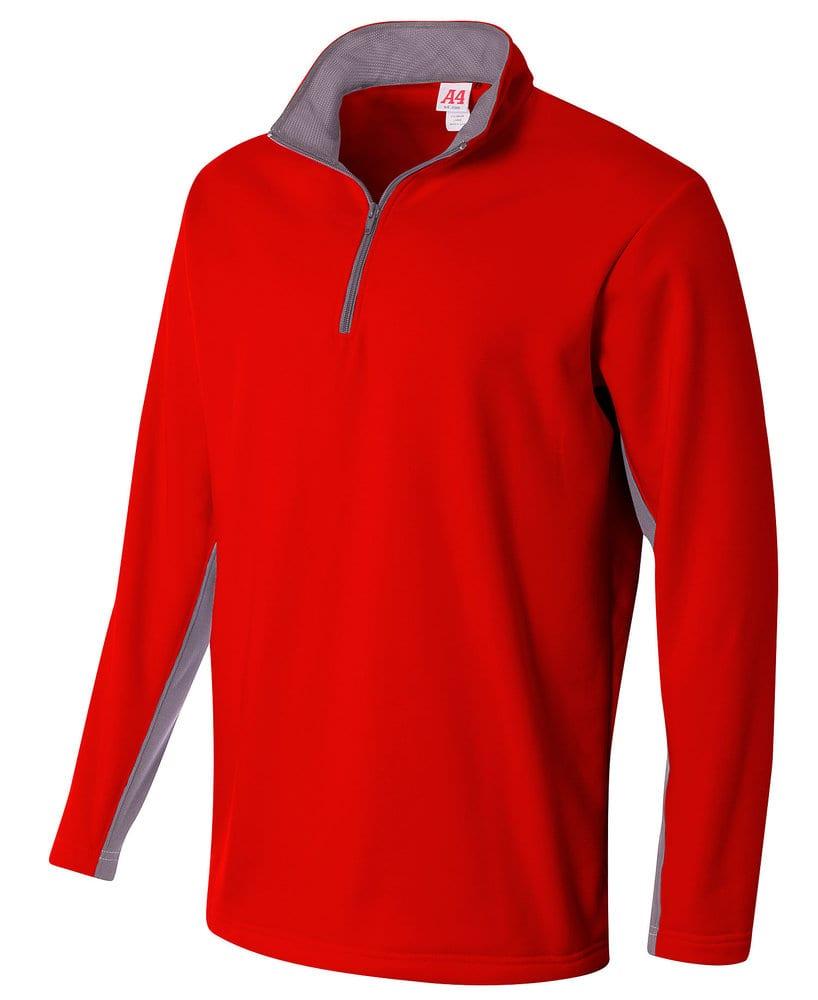 A4 A4N4246 - Adult Color Block 1/4 Zip Fleece