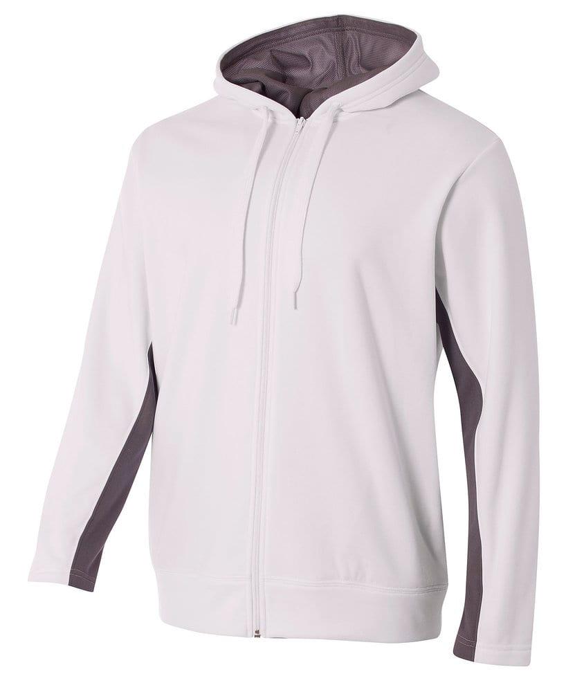 A4 A4N4251 - Adult Color Block Full Zip Hood