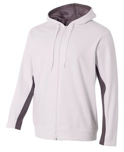 A4 A4N4251 - Adult Color Block Full Zip Hood
