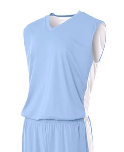 A4 A4NB2320 - Youth Reversible Side Stripe Sleeveless Jersey