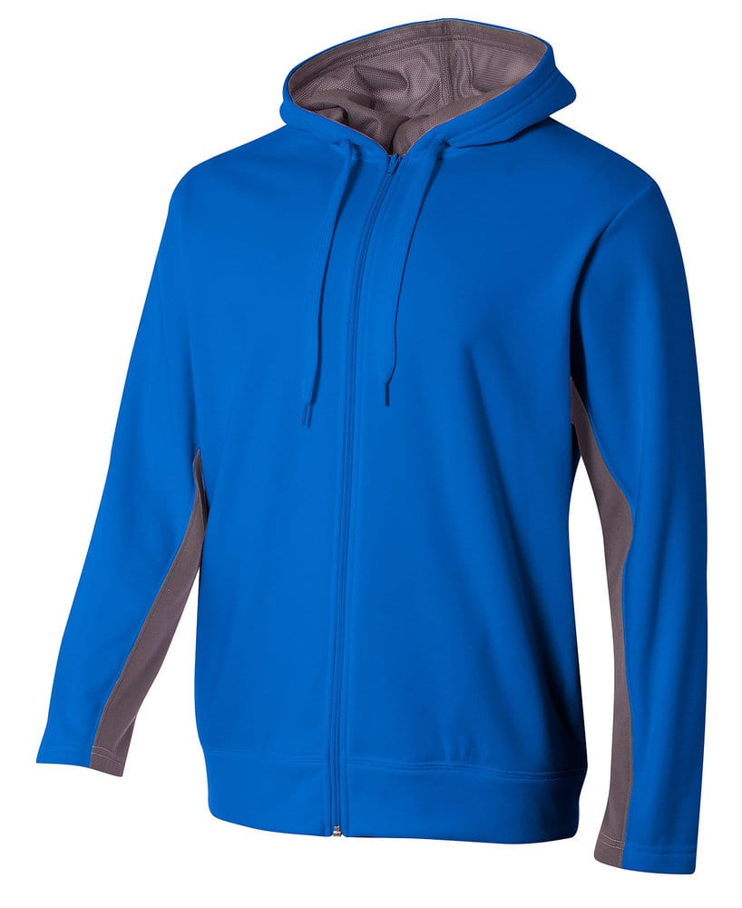 A4 A4NB4251 - Youth Color Block Full Zip Hood
