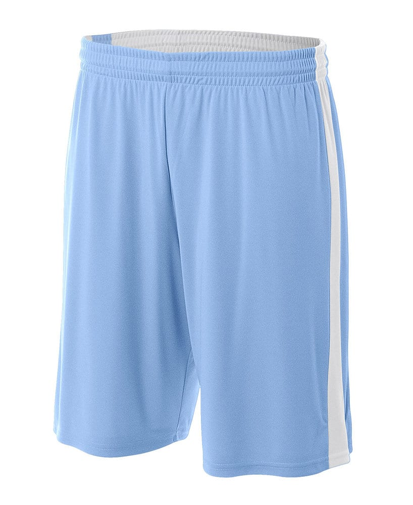"""A4 A4NB5284 - Youth Reversible Side Stripe 8"""" Short"""