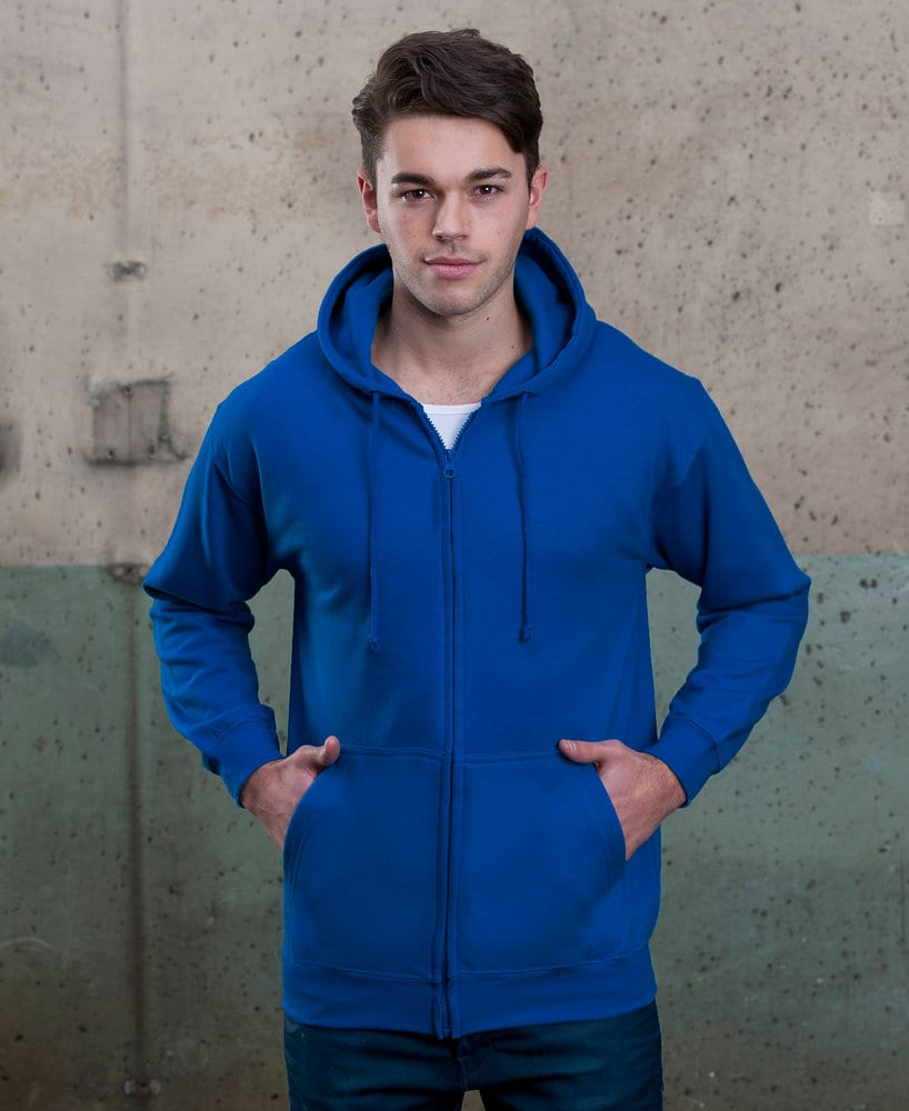 AWDis JHA050 - JUST HOODS by Adult Full Zip Fleece Zoodie