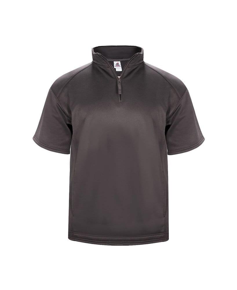 Badger BG1482 - Adult Polyester Fleece Short Sleeve 1/4 Zip