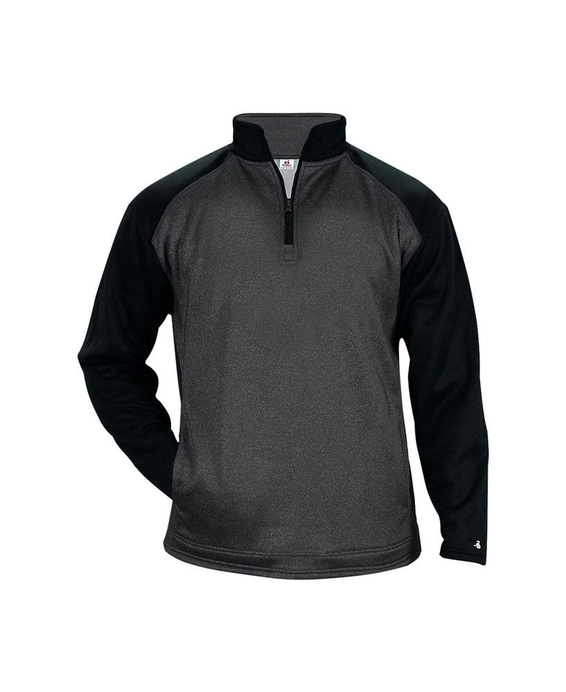 Badger BG1485 - Adult Pro Heather Tonal 1/4 Zip Fleece