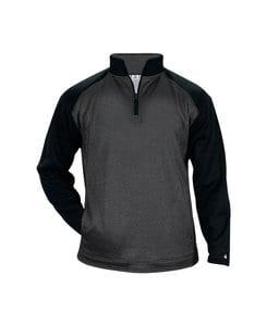 Badger BG1485 - Adult Pro Heather Tonal 1/4 Zip Fleece