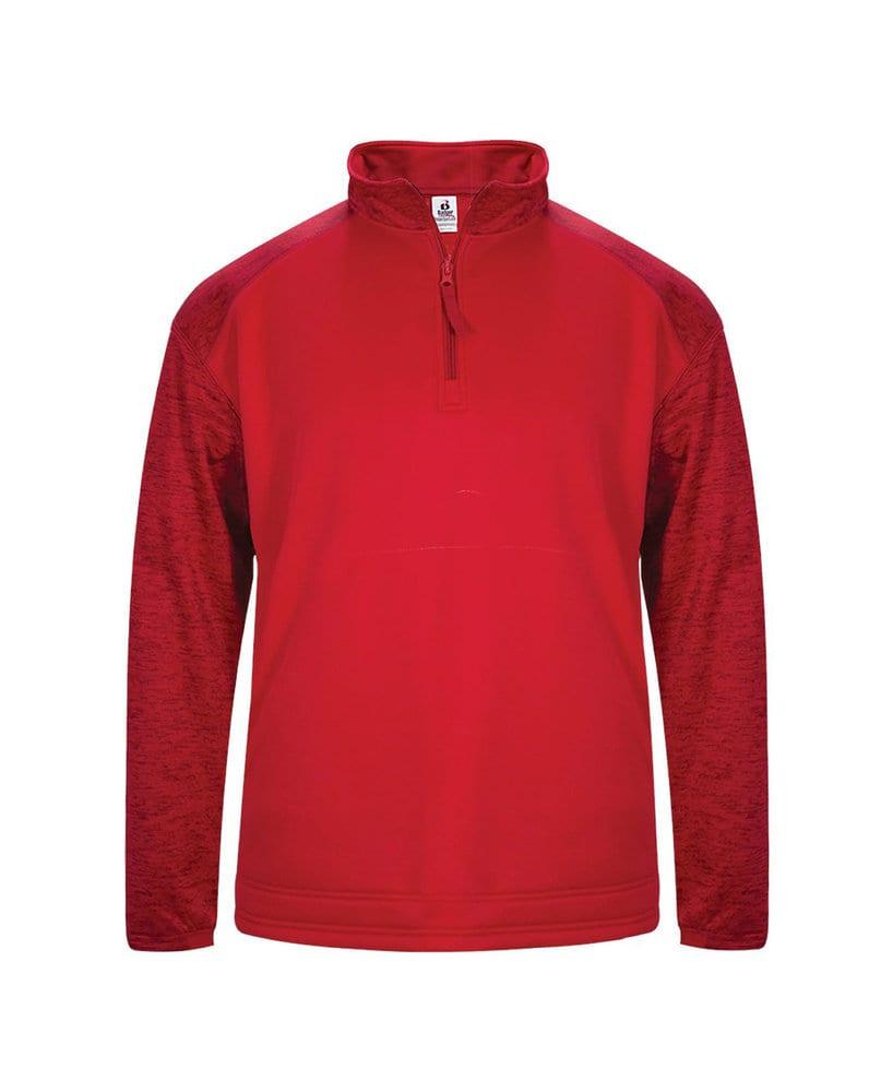 Badger BG1488 - Adult Sport Tonal Blend 1/4 Zip Fleece