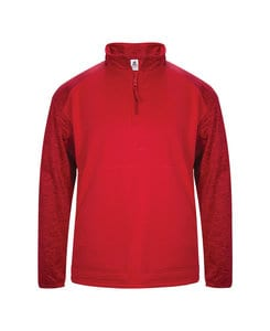 Badger BG1488 - Adult Sport Tonal Blend 1/4 Zip Fleece