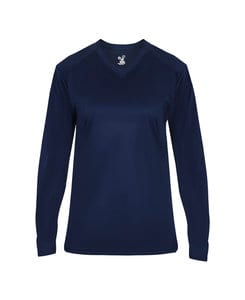 Badger BG4064 - Ladies Ultimate V-Neck Long Sleeve Tee