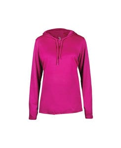 Badger BG4165 - Ladies B-Core Long Sleeve Hooded Tee
