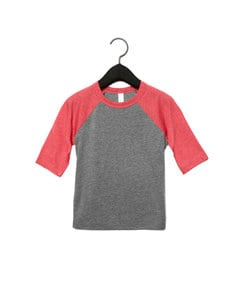 BELLA+CANVAS B3200T - Toddler 3/4 Baseball Tee