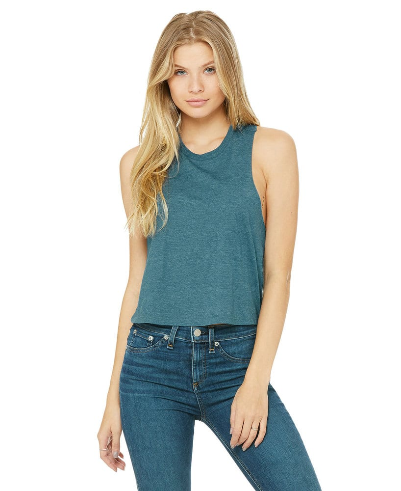 BELLA+CANVAS B6682 - Women's Racerback Cropped Top