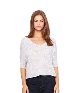 BELLA+CANVAS B8825 - Womens Flowy Boxy 1/2 Sleeve V-Neck Tee