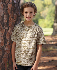 Code Five LA2206 - Youth Camo Tee