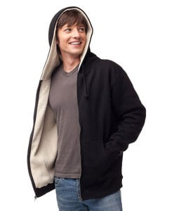 Independent Trading Co. EXP40S - Mens Heavyweight Sherpa Lined Zip Hood