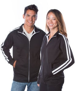 Independent Trading Co. EXP70PTZ - Unisex Lightweight Poly-tech Zip Track Jacket