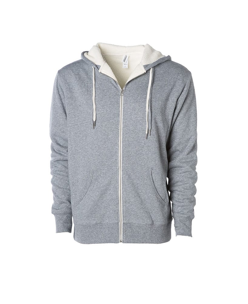 Independent Trading Co. EXP90SHZ - Unisex Heavyweight Sherpa Lined Zip Hood