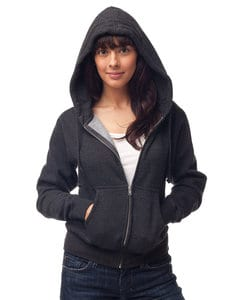 Independent Trading Co. IND008Z - Womens Midweight Zip Hooded Fleece