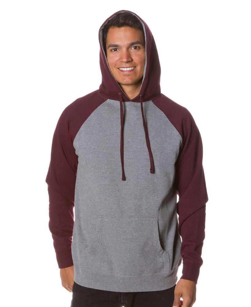 Independent Trading Co. IND40R - Adult Lightweight Raglan Hooded Pullover