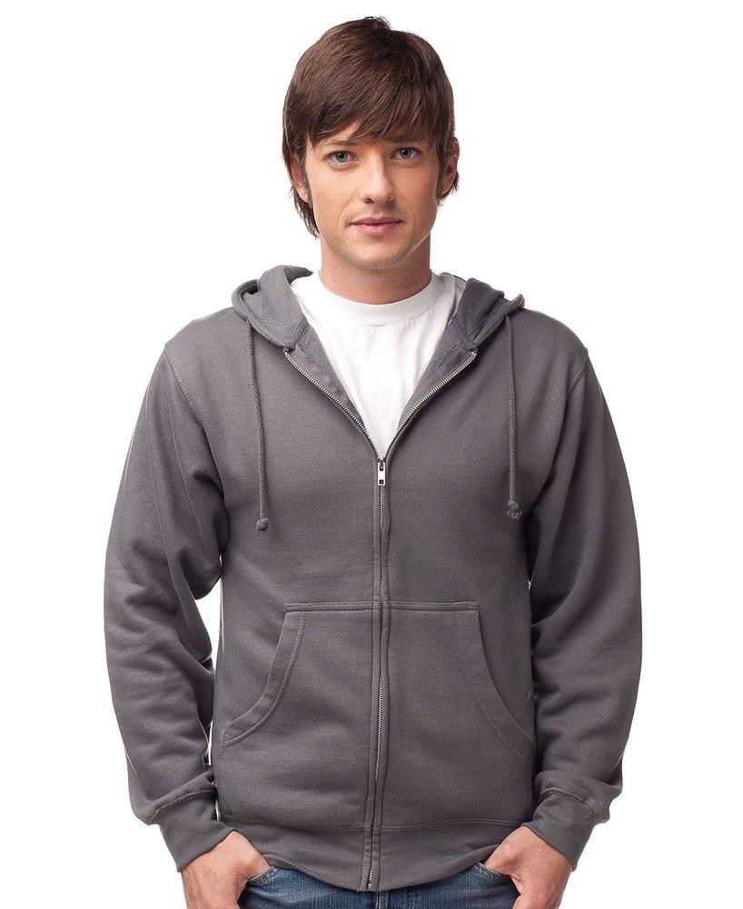 Independent Trading Co. SS450Z - Men's Midweight Full Zip Hooded Fleece