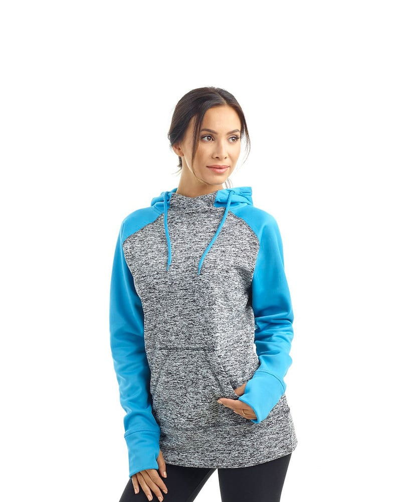 J. America JA8618 - Ladies' Cosmic Colorblock Pullover Hood