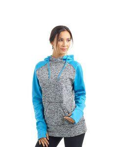 J. America JA8618 - Ladies Cosmic Colorblock Pullover Hood