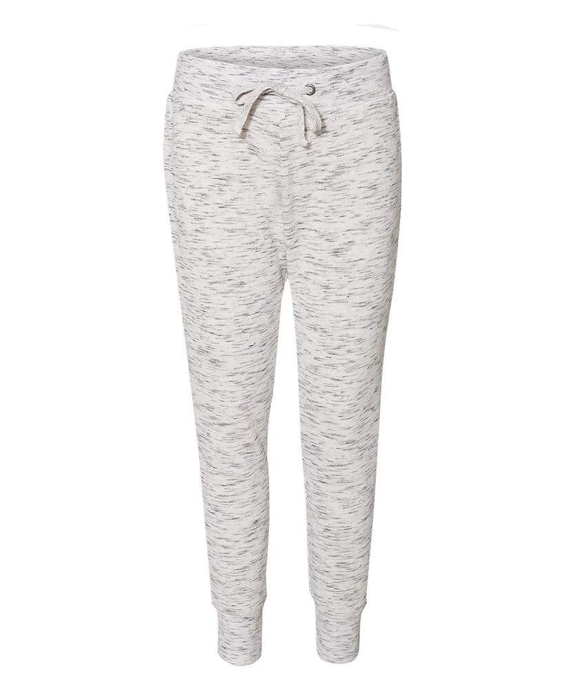 J. America JA8675 - Ladies' Melange Fleece Jogger Pant