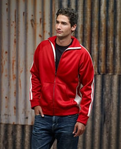 J. America JA8858 - Adult Vintage Poly Fleece Track Jacket
