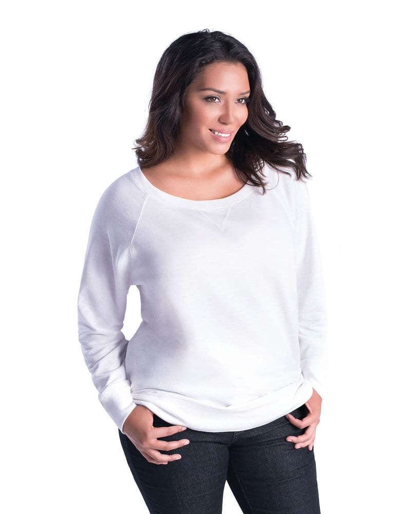 LAT LA3862 - Ladies' Curvy Slouchy French Terry Pullover