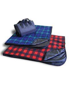 Liberty Bags LB8702 - Alpine Fleece Plaid Fleece Picnic Blanket